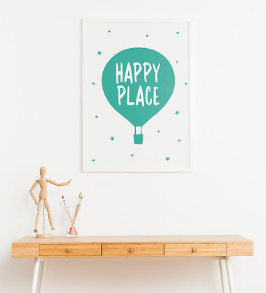 כדור פורח טורקיז-Happy place
