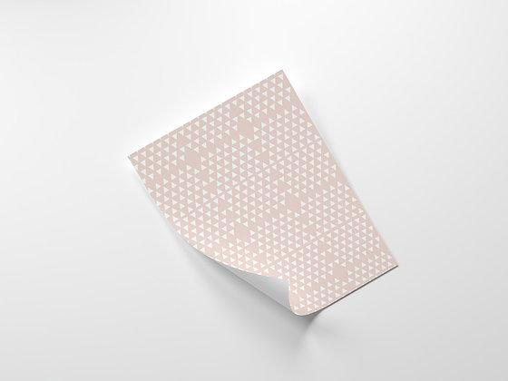 נייר עטיפה אפרסק-משולשים