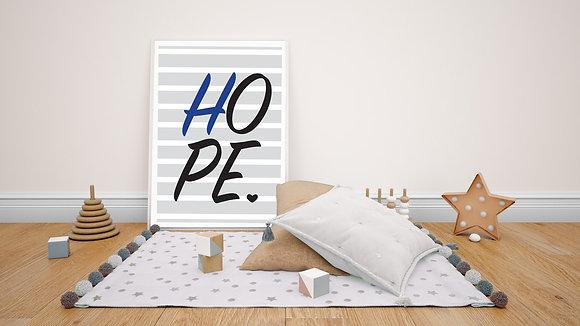 כחול hope