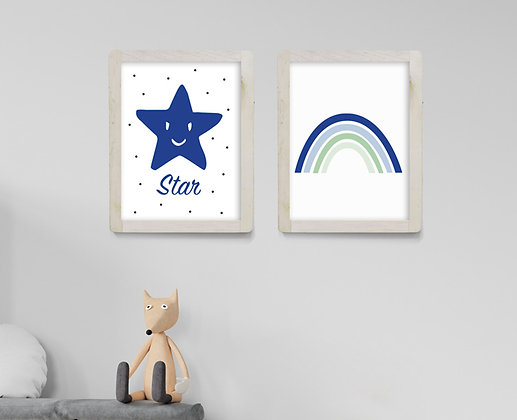 סט - קשת קרירה & כוכב כחול