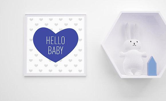 hello baby-לב כחול