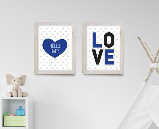 love & hello baby סט - כחול