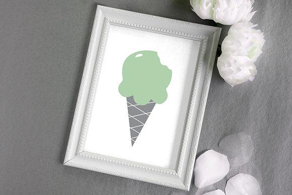 גלידה מנטה