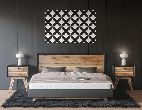 pattern קרמי שחור-לבן