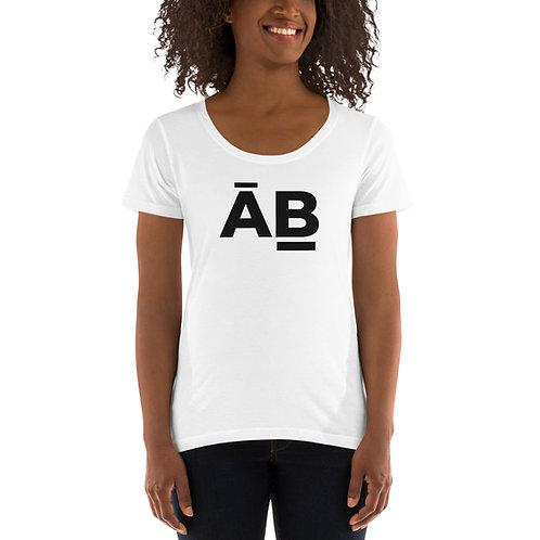 Black Logo Ladies' Scoopneck T-Shirt
