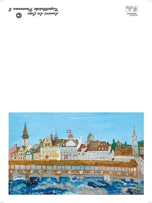 Von der Seebrücke Luzern Postkarte
