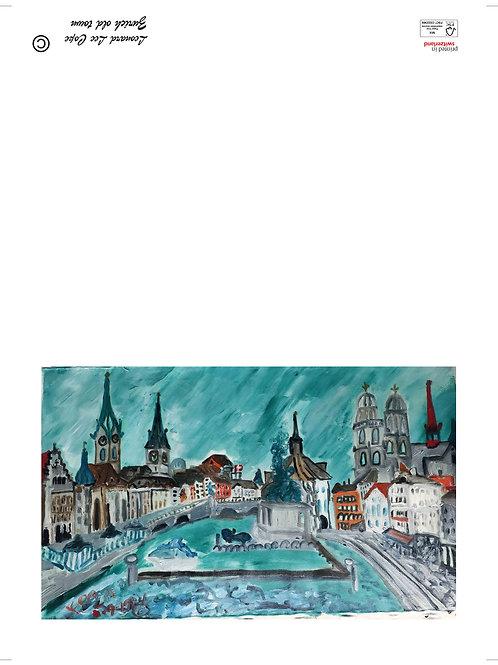 Zürich Postkarte