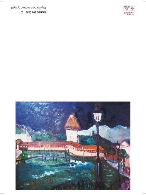 Luzern mit Mondlicht Postkarte