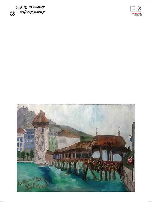 Kappelbrücke mit Pilatus Postkarte