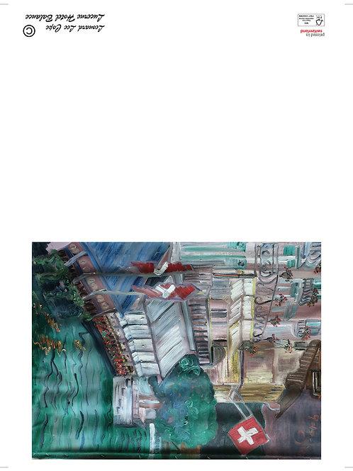 Reuss Luzern Postkarte