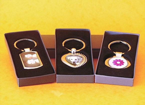 Polished metal Key Rings