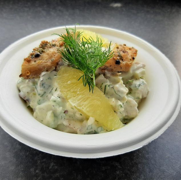 gerookte paling salade