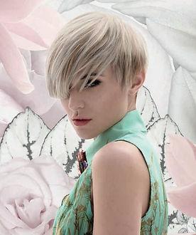 mode, coupe, dégradé, couleur végétale, cheveux, mariage, communion, évènement, beauté, style, visage, mode