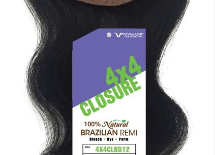 4x4 BRAZILIAN BODY WAVE CLOSURE-Vivica Fox Hair.