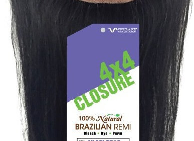 4x4 Brazilian Straight Closure Vivica Fox Hair