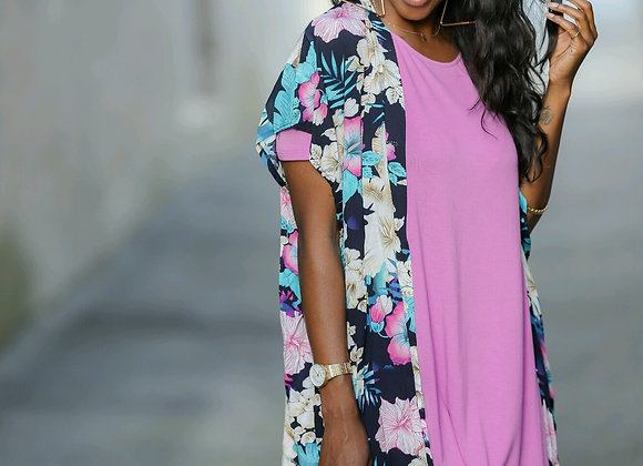 From the Tropics Cover Up-Navy.