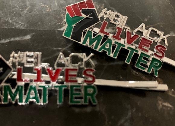 BLM Fist Up Hair Pins