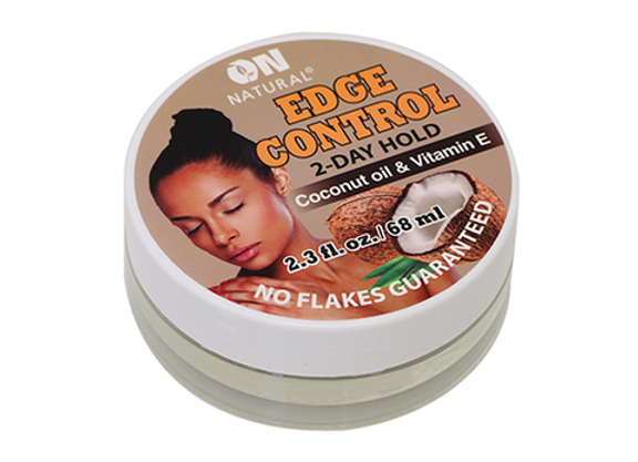 ON Natural 2 Day Edge Control Coconut Oil & Vitamin E.