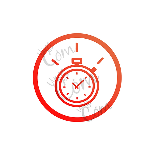 Image chronomètre rouge