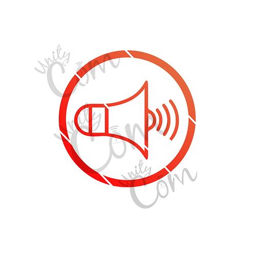 Image vectorielle mégaphone rouge