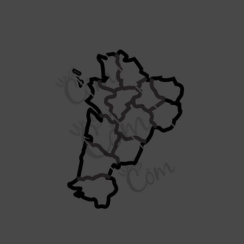 Carte Nouvelle Aquitaine