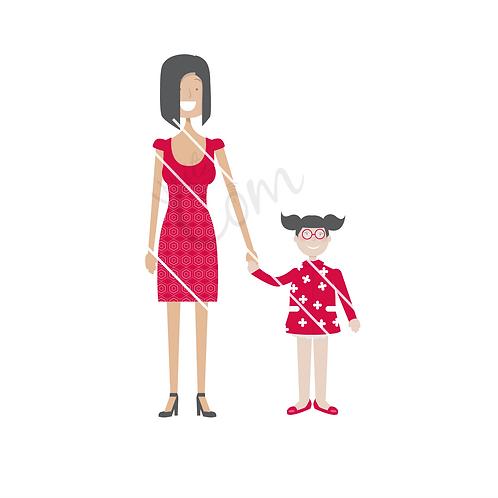 Avatars femme et enfant