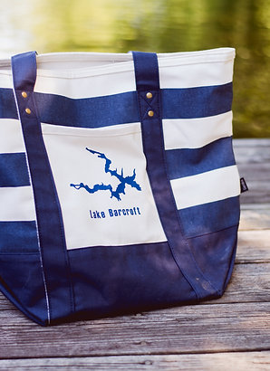 Lake Striped Tote