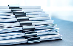 Pile of medical records