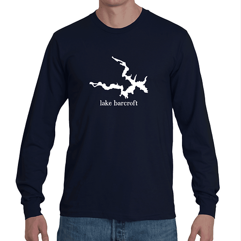 Mens map long sleeve tee