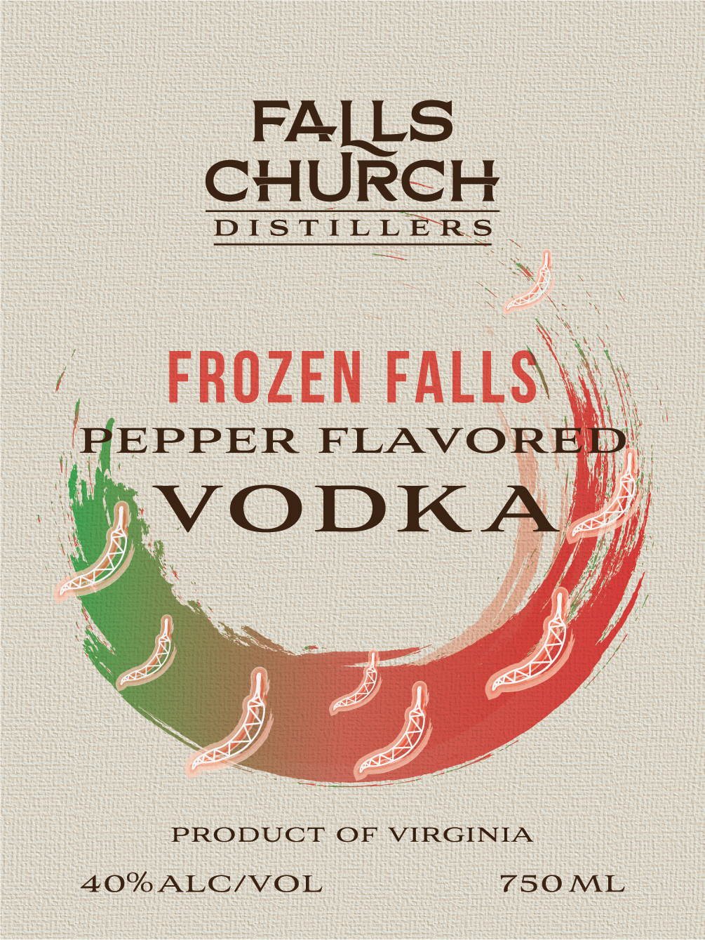 Frozen Falls Pepper Flavored Vodka