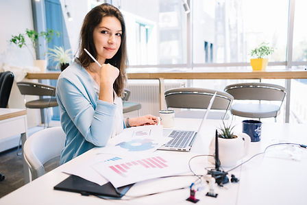 Female Office Worker at desk with computer