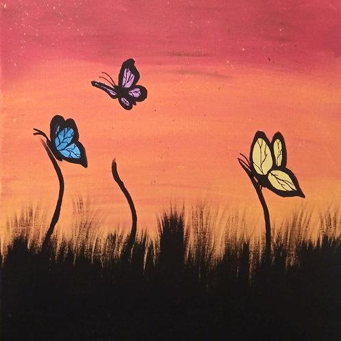 Butterflies at Sunset