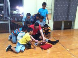 with niños at Hogar de la Infancia! 2013..jpg