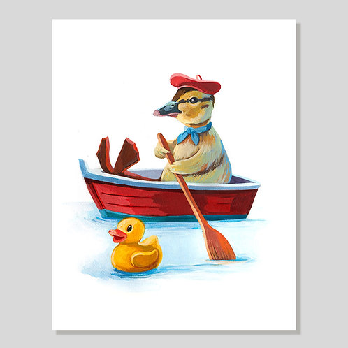 Print: Paddle boat