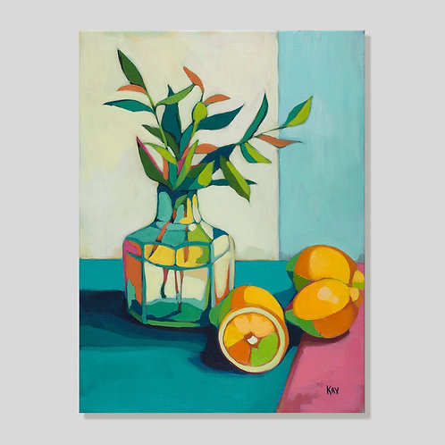 Print: Lemons with Olive Branch