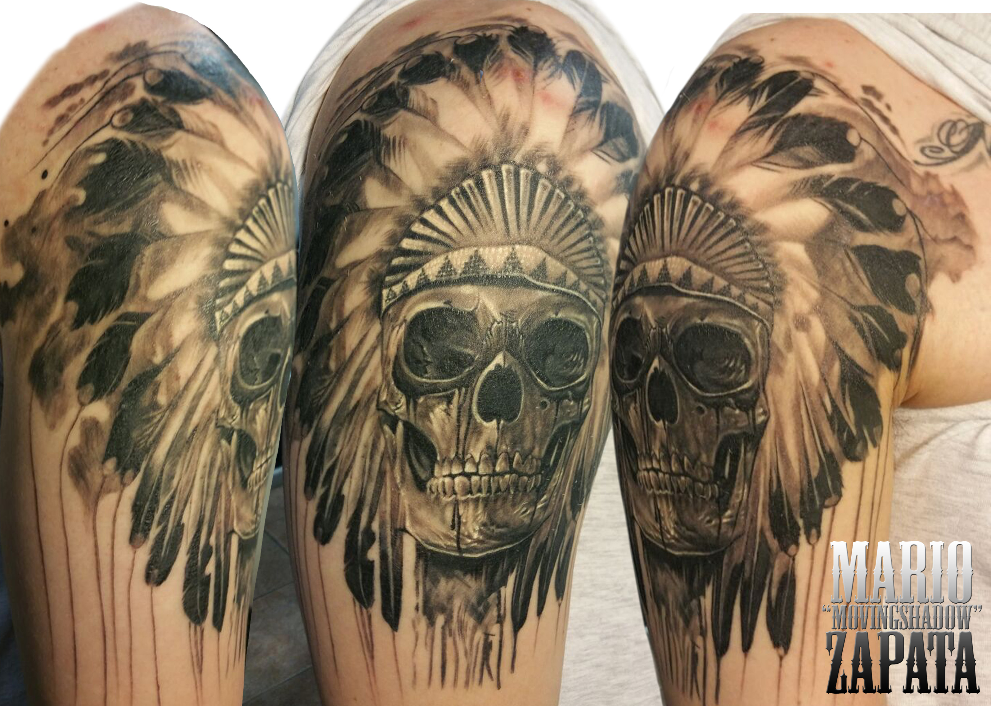 chief skull tattoo