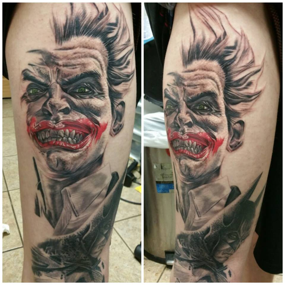 joker/Batman Leg sleeve in progress