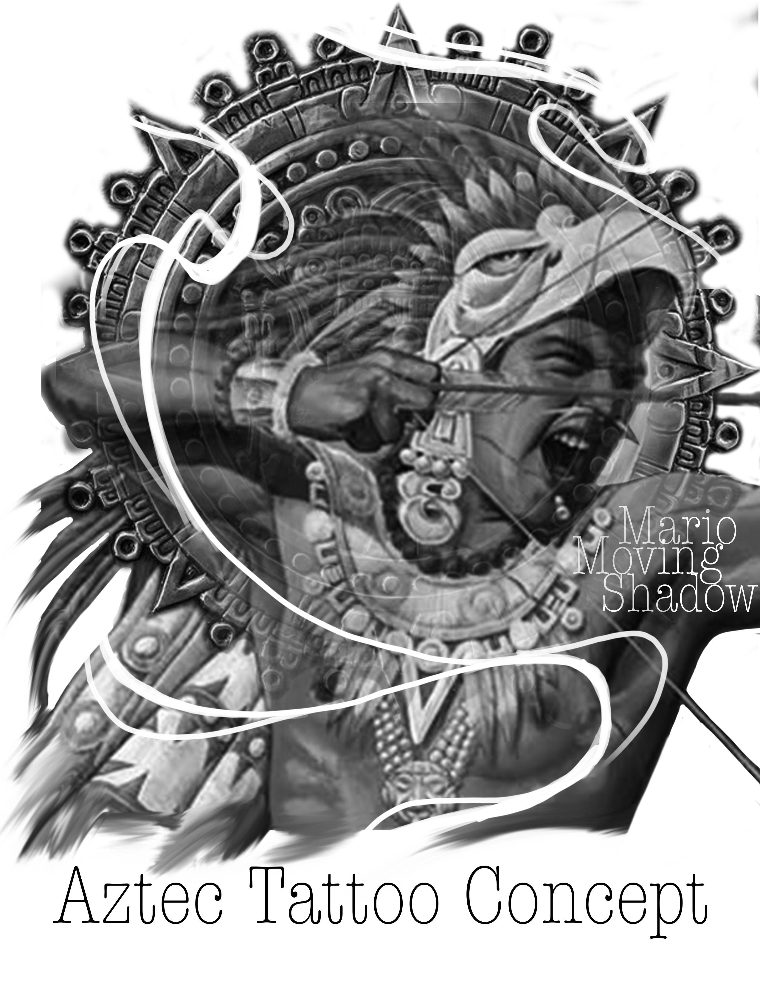 Aztec tattoo concept
