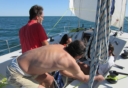 Take your colleagues or business partners to a sailing & teaming workshop