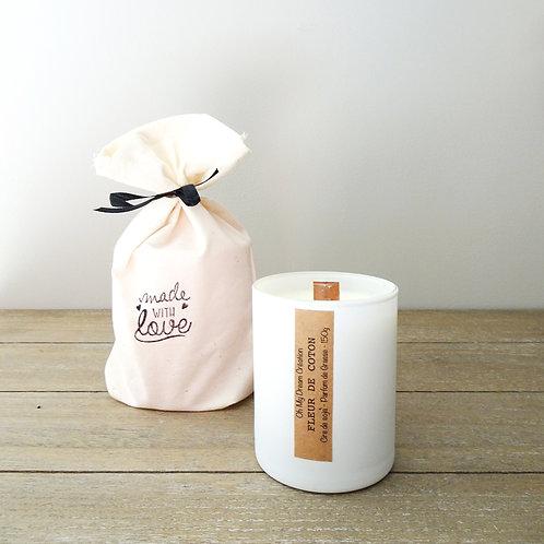 Bougie parfum fleur de coton -150g