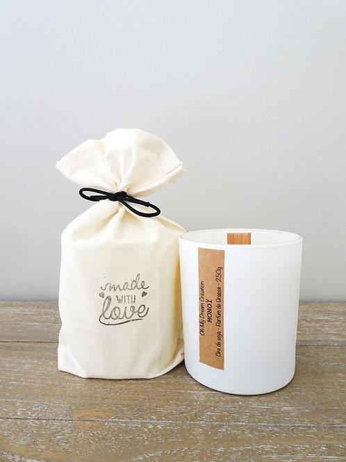 Bougie parfum monoï -250g