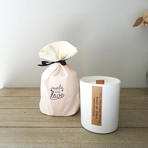 Bougie parfum Fleur de coton -250g