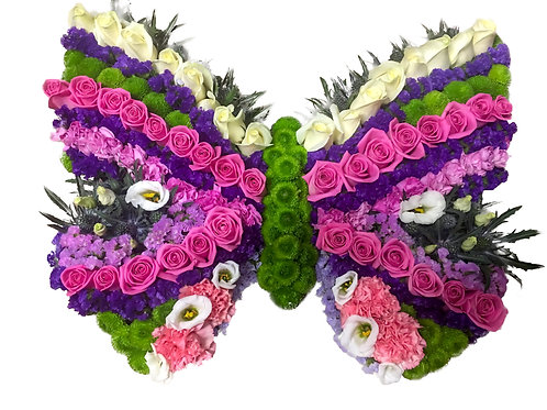 BUTTERFLY TRIBUTE PINK AND PURPLE