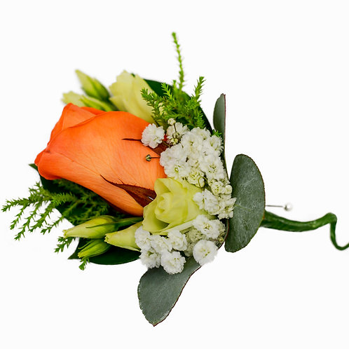 ELEGANT ORANGE ROSE BOUTONNIERE