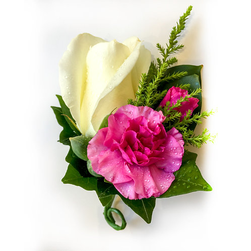 ROSE AND CARNATION BOUTONNIERE