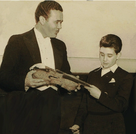10 year old Rodney Friend with Inia Takiawa