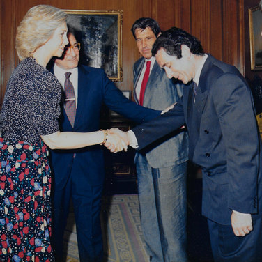 Queen Sofia of Spain with Rodney Friend-