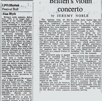 Britten Violin Concerto-Rodney Friend-Concert Review