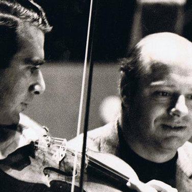 Rodney Friend and Bernard Haitink photo.