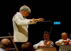 Rodney Friend (NYP Concert Master) with Leonard Bernstein.